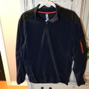 Navy blue fleece pullover jacket by Mondetta